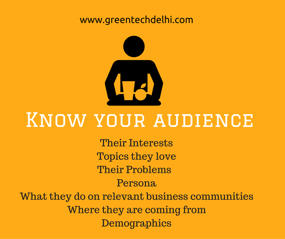 Know your audience (1)