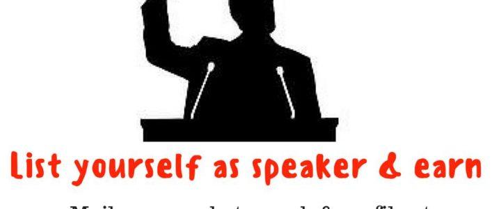 Be a greentech speaker