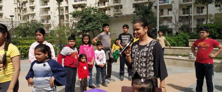 Waste Segregation Campaign in Mahagun Moderne, Noida