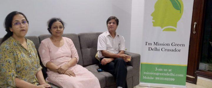 MGD Green Talk hosted by Dr. Anju Gupta and Dr. Rakesh Gupta at Green Park