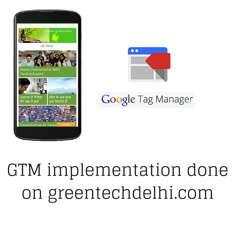 We use Google Tag Manager to track our campaigns