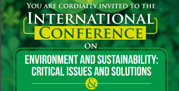 International Conference on Environment and Sustainability: Critical Issues and Solutions by WWF India in collaboration with Jindal Global University